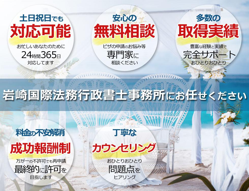 岩崎国際法務行政書士事務所が選ばれる訳